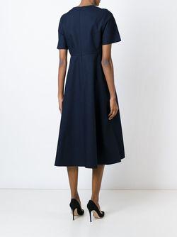 Расклешенное Платье С Короткими Рукавами Sofie D'Hoore                                                                                                              синий цвет