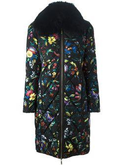 Дутое Пальто С Цветочным Принтом MONCLER X ERDEM                                                                                                              черный цвет