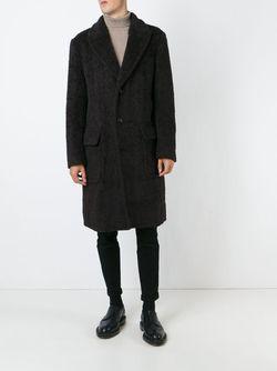 Однобортное Пальто Dolce & Gabbana                                                                                                              коричневый цвет