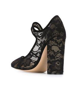 Кружевные Туфли Мери-Джейн Dahlia Gianvito Rossi                                                                                                              чёрный цвет