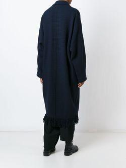 Длинное Пальто С Бахромой На Подоле Y'S                                                                                                              синий цвет