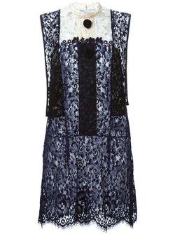 Кружевное Платье С Панельным Дизайном Toga                                                                                                              черный цвет