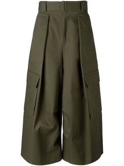 Wide Leg Cargo Trousers JUUN.J                                                                                                              зелёный цвет