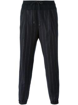 Pinstripe Drawstring Trousers JUUN.J                                                                                                              чёрный цвет