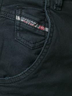 Укороченные Джинсы Diesel                                                                                                              чёрный цвет