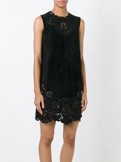 Платье С Цветочной Перфорацией Dolce & Gabbana                                                                                                              чёрный цвет