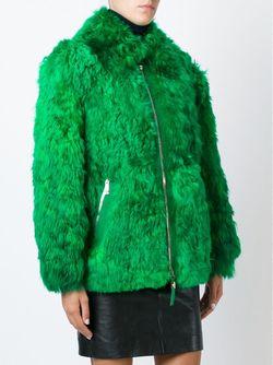 Полупальто На Молнии Versace                                                                                                              зелёный цвет