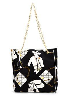 Coco Chanel Print Tote Chanel Vintage                                                                                                              чёрный цвет