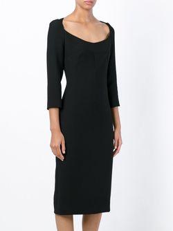Приталенное Платье Dolce & Gabbana                                                                                                              черный цвет