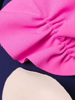 Юбка С Контрастными Бантами MSGM                                                                                                              синий цвет