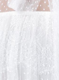 Прозрачная Блузка С Бантом Valentino                                                                                                              белый цвет