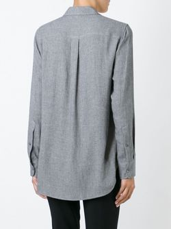 Рубашка С Нагрудным Карманом Theory                                                                                                              серый цвет