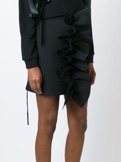 Короткая Юбка С Оборками NICOPANDA                                                                                                              черный цвет