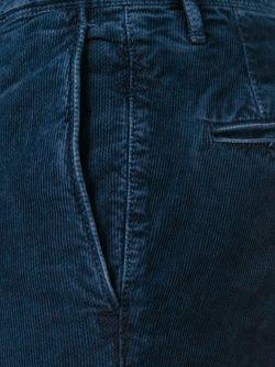 Вельветовые Брюки Incotex                                                                                                              синий цвет
