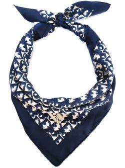 Шарф С Логотипом Christian Dior Vintage                                                                                                              синий цвет