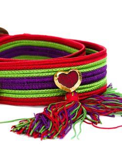 Плетеный Ремень Saint Laurent                                                                                                              красный цвет