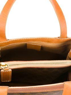 Сумка-Тоут С Логотипом Celine Vintage                                                                                                              коричневый цвет