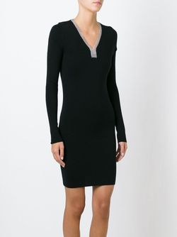 Платье-Свитер С Цепочной Отделкой Выреза Barbara Bui                                                                                                              чёрный цвет