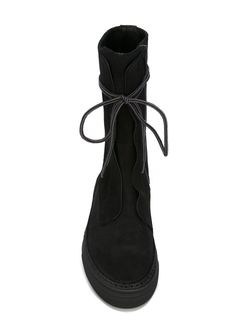 Lace Up Flat Boots A.F.Vandevorst                                                                                                              чёрный цвет