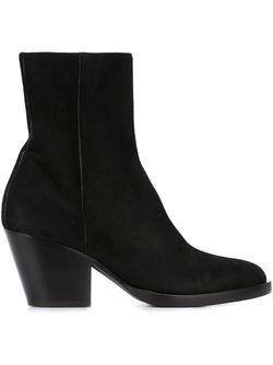 Mid Chunky Heel Ankle Boots A.F.Vandevorst                                                                                                              чёрный цвет