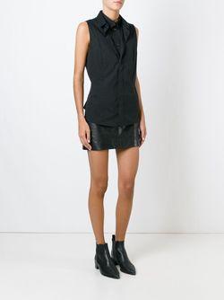 Блузка С Двойным Воротником Без Рукавов Barbara Bui                                                                                                              чёрный цвет
