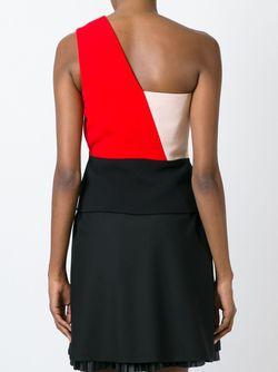 Топ На Одно Плечо Дизайна Колор-Блок Fausto Puglisi                                                                                                              черный цвет