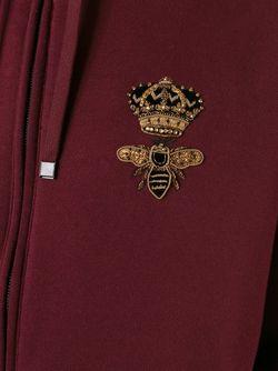 Толстовка С Аппликацией Пчелы И Короны Dolce & Gabbana                                                                                                              красный цвет