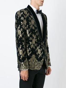 Пиджак Смокинг С Цветочным Жаккардовым Узором Dolce & Gabbana                                                                                                              чёрный цвет