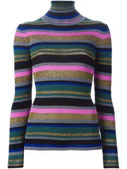 Полосатый Свитер С Высоким Горлом Emilio Pucci                                                                                                              многоцветный цвет