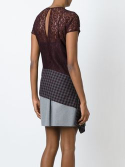 Asymmetric Panelled Lace Top Carven                                                                                                              красный цвет