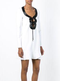 Платье С Декорированным Вырезом На Шнуровке Emilio Pucci                                                                                                              белый цвет