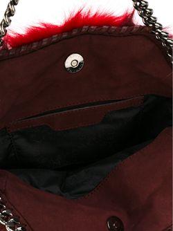 Small Falabella Faux-Fur Tote Stella Mccartney                                                                                                              красный цвет