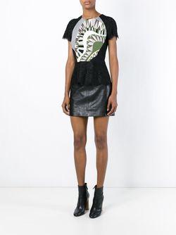 Кружевной Топ С Контрастной Панелью Emilio Pucci                                                                                                              чёрный цвет