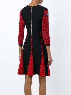 Расклешенное Платье С Леопардовым Узором-Интарсией Marco Bologna                                                                                                              черный цвет
