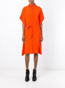 Платье-Рубашка С Завязкой На Поясе Kenzo                                                                                                              желтый цвет