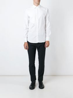 Рубашка С Панельным Дизайном Neil Barrett                                                                                                              белый цвет