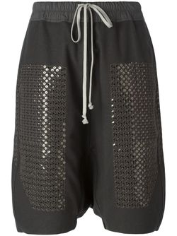 Sequinned Drop Crotch Shorts Rick Owens                                                                                                              серый цвет