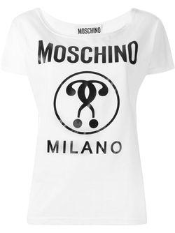 Футболка С Принтом Логотипа Moschino                                                                                                              Nude & Neutrals цвет
