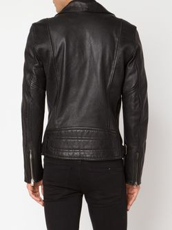 Fitted Biker Jacket Blk Dnm                                                                                                              черный цвет