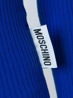Свитер С Вырезом-Лодочкой Moschino                                                                                                              синий цвет