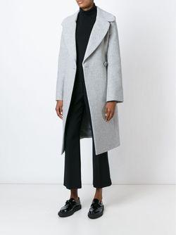 Пальто С Поясом Stella Mccartney                                                                                                              серый цвет