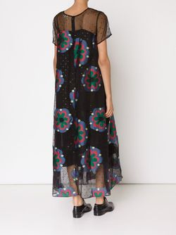 Embroidered Chiffon Printed Maxi Dress Suno                                                                                                              чёрный цвет