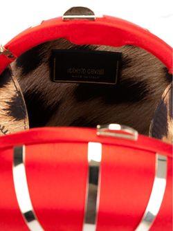 Embellished Logo Round Crossbody Bag Roberto Cavalli                                                                                                              красный цвет