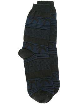 Носки В Полоску Julien David                                                                                                              черный цвет