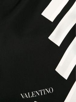 Шарф В Диагональную Полоску Valentino Garavani                                                                                                              черный цвет