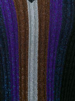 Полосатый Свитер Вязки Косичкой С Блеском Marco De Vincenzo                                                                                                              черный цвет