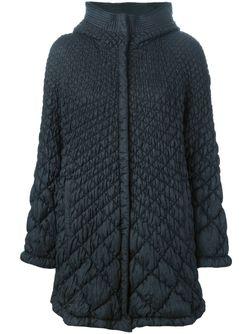 Стеганая Куртка С Капюшоном Ermanno Scervino                                                                                                              синий цвет