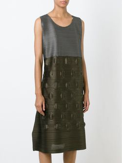 Colour Block Pleated Dress PLEATS PLEASE BY ISSEY MIYAKE                                                                                                              зелёный цвет