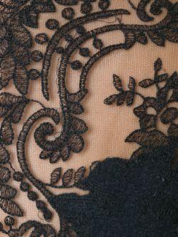 Топ С Кружевными Панелями Ermanno Scervino                                                                                                              чёрный цвет