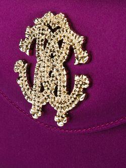 Сумка На Плечо С Декорированным Логотипом Roberto Cavalli                                                                                                              розовый цвет